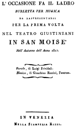 Gioachino_Rossini_-_L%u2019occasione_fa_il_ladro_-_titlepage_of_the_libretto_-_Venice_1812
